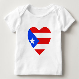 Puerto Rico Flag Heart T Shirt