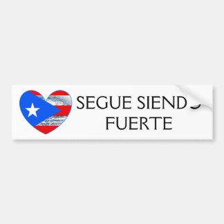 Puerto Rico Flag Hurricane Maria Bumper Bumper Sticker