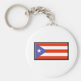 Puerto Rico Flag Key Ring