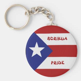 Puerto Rico Flag Keychain