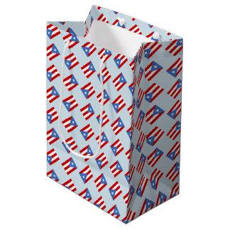 Puerto Rico Flag Medium Gift Bag