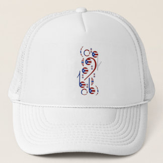 Puerto Rico Flag Music Notes Trucker Hat