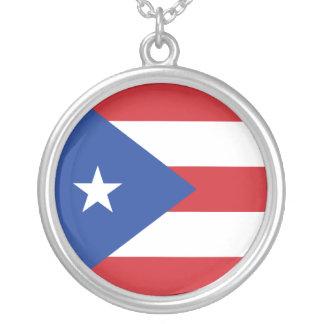 Puerto Rico Flag Necklace