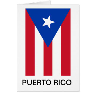 Puerto Rico Flag Note Card