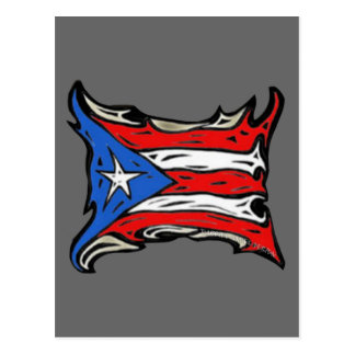Puerto Rico Flag of Reggaeton Postcard