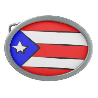 Puerto Rico Flag Oval Belt Buckle