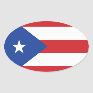 Puerto Rico Flag Oval Sticker