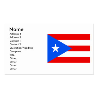 Puerto Rico Flag Pack Of Standard Business Cards