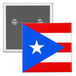 Puerto Rico Flag Pinback Buttons