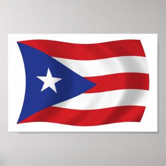 Puerto Rico Flag Poster Print