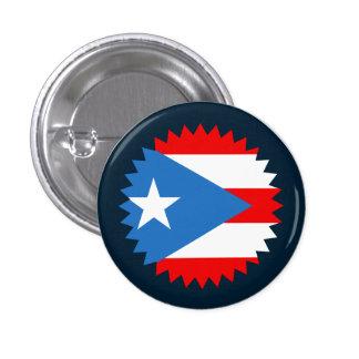 Puerto Rico: Flag Seal Novelty Souvenir 3 Cm Round Badge