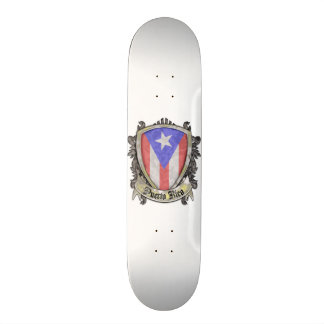 Puerto Rico Flag - Shield Crest Skateboard Decks