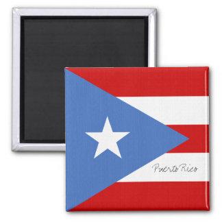 Puerto Rico Flag Square Magnet
