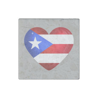 Puerto Rico Flag Stone Magnet