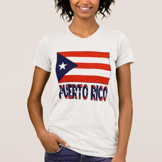 Puerto Rico Flag & Word T-Shirt