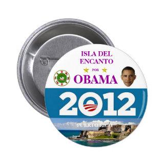 PUERTO RICO FOR OBAMA IN 2012 6 CM ROUND BADGE