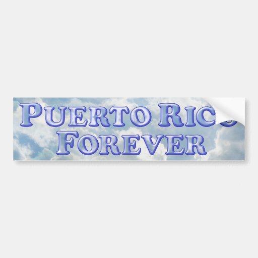 Puerto Rico Forever - Bevel Basic Bumper Sticker