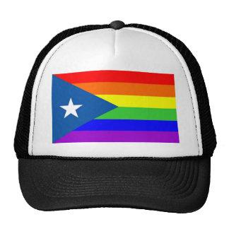 puerto rico gay proud rainbow flag homosexual cap
