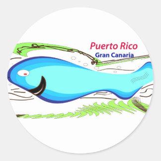 Puerto rico Gran Canaria Souvenirs Classic Round Sticker