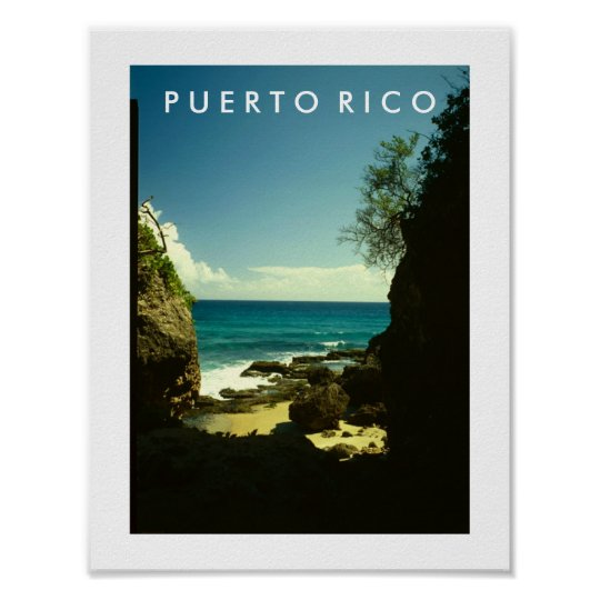 Puerto Rico, Guajataca, Isabela Poster