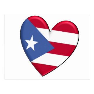 Puerto Rico Heart Flag Postcard