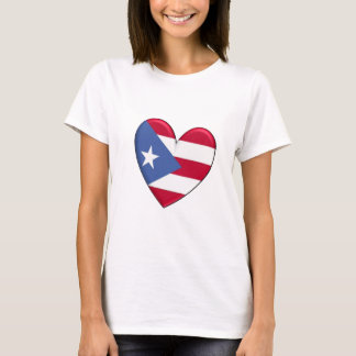 Puerto Rico Heart Flag T-Shirt