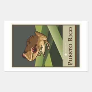 Puerto Rico II Rectangular Sticker