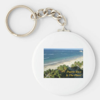 Puerto Rico Is The Place Basic Round Button Key Ring