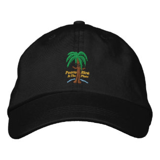 Puerto Rico Is The Place Embroidered Hat