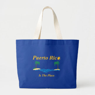 Puerto Rico Is The Place Jumbo Tote