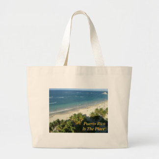 Puerto Rico Is The Place Large Tote Bag
