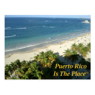 Puerto Rico Is The Place Postcard