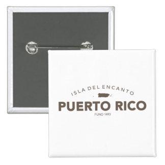 Puerto Rico Isla del Encanto 2 Inch Square Button