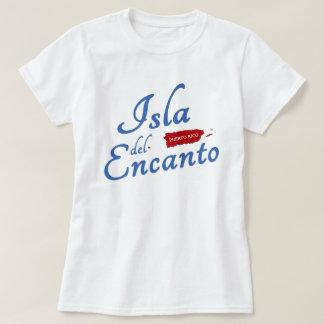 Puerto Rico, Isla del Encanto Red White Blue T-shirt