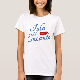 Puerto Rico, Isla del Encanto Red White Blue T-Shirt