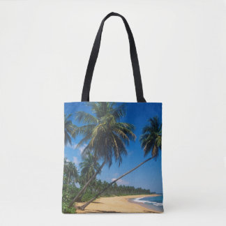 Puerto Rico, Isla Verde, palm trees Tote Bag