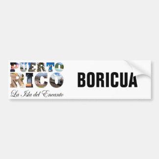 Puerto Rico La Isla Del Encanto Boricua Bumper Stickers