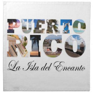 Puerto Rico La Isla Del Encanto Cloth Napkins