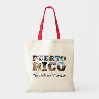 Puerto Rico La Isla Del Encanto Collage / Montage Budget Tote Bag
