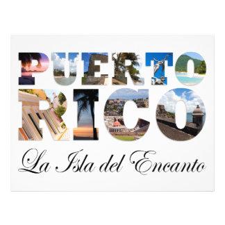 Puerto Rico La Isla Del Encanto Collage / Montage Custom Flyer