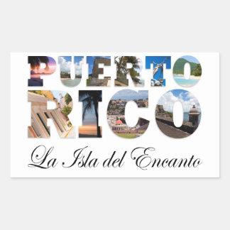 Puerto Rico La Isla Del Encanto Collage / Montage Stickers