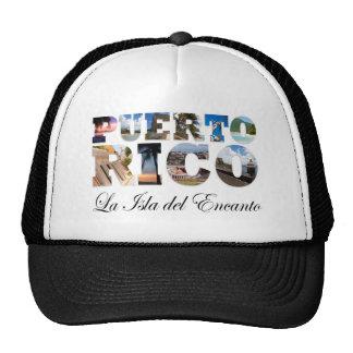 Puerto Rico La Isla Del Encanto Montage Hats