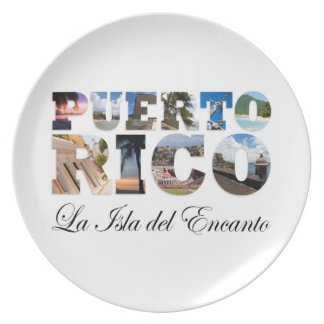 Puerto Rico La Isla Del Encanto Dinner Plate