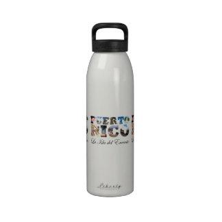 Puerto Rico La Isla Del Encanto Water Bottles