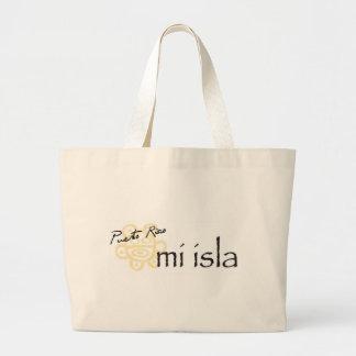 Puerto Rico Mi Isla Canvas Bags