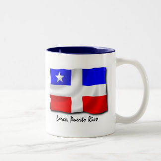 Puerto Rico Mug: Lares Two-Tone Coffee Mug