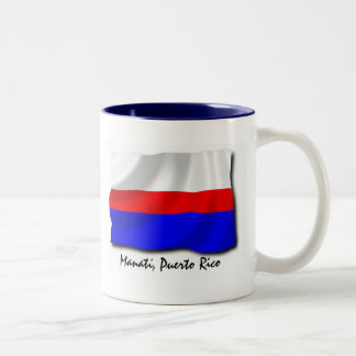Puerto Rico Mug: Manati Two-Tone Coffee Mug