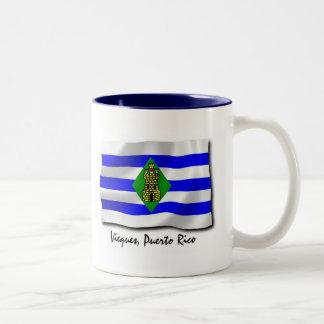 Puerto Rico Mug: Vieques Two-Tone Coffee Mug