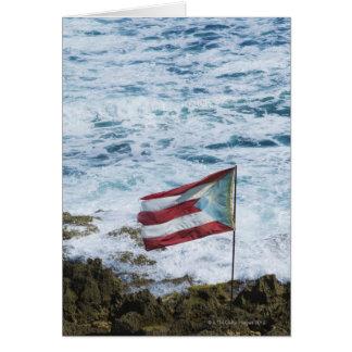 Puerto Rico, Old San Juan, flag of Puerto rice Card