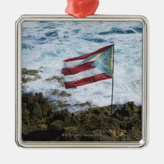 Puerto Rico, Old San Juan, flag of Puerto rice Christmas Ornament